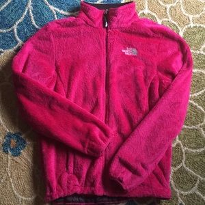 Pink North Face full zip jacket